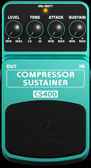 Behringer CS400 Compressor Sustainer Guitar Effects Pedal Stompbox