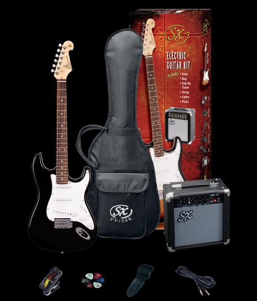 Essex SE Electric Guitar +Amp/Accessories Pack Black