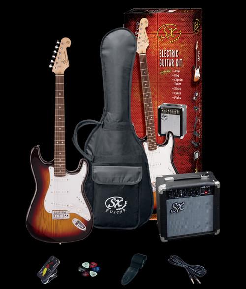 Essex SE Electric Guitar + Amp/Accessories Pack Three-Tone Sunburst