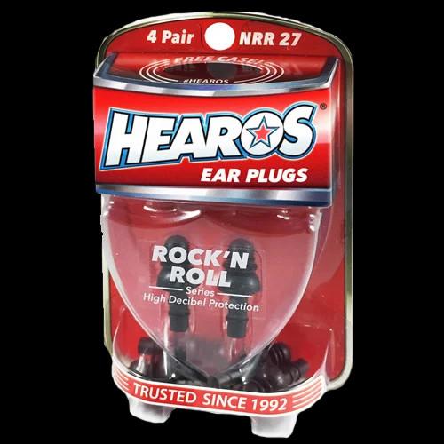 HEAROS Ear Plugs Rock 'N Roll Series + FREE CASE