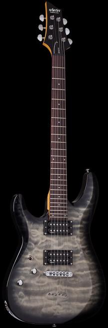 Schecter C6 Plus/Deluxe Left Handed Electric Guitar Charcoal Burst
