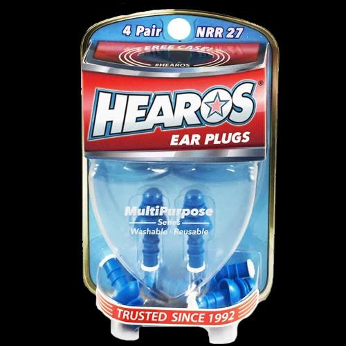 HEAROS Ear Plugs Multi-Purpose Series + FREE CASE