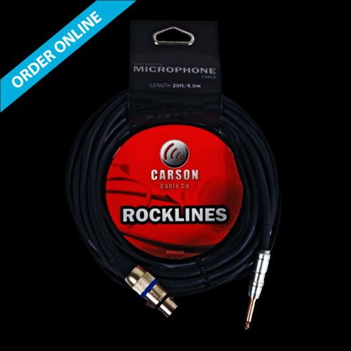 """Carson Cable Co Microphone Cable 20' (6m) XLR-1/4"""" Lead"""