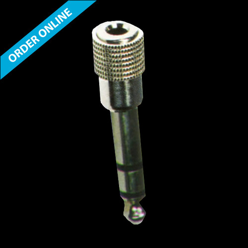 """Carson Cable Co Rock Plugs 6.3mm (1/4"""") Stereo Jack/3.5mm (1/8"""") Stereo Socket Adaptor"""