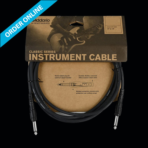 """D'Addario (Planet Waves) Classic Series Instrument Cable 3m (10') 1/4"""" Straight Lead"""