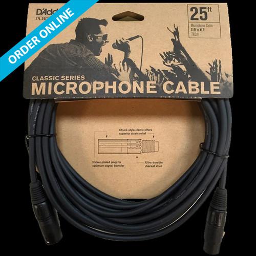 D'Addario (Planet Waves) Classic Series Microphone Cable 7.5m (25') XLR-XLR Lead