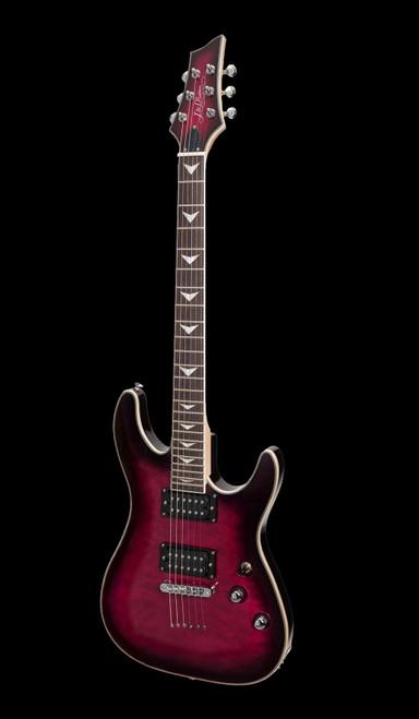 J & D Luthiers Y80Q Quilted Maple Top Electric Guitar Transparent Purple