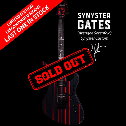 Schecter Synyster (Avenged Sevenfold) Custom Electric Guitar Gloss Black/Red Pin Stripe