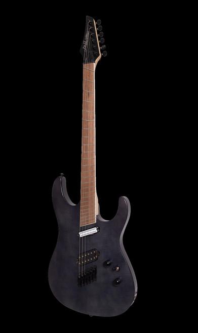 J & D Luthiers Contemporary Multi-Scale Electric Guitar Transparent Black