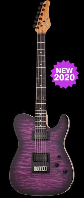Schecter PT Pro Electric Guitar Transparent Purple Burst