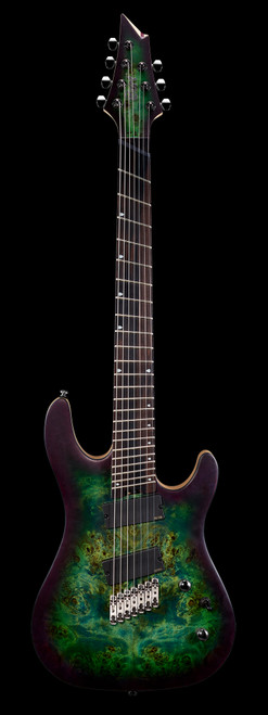 Cort KX500MS 7-String Multi-Scale Electric Guitar Star Dust Green