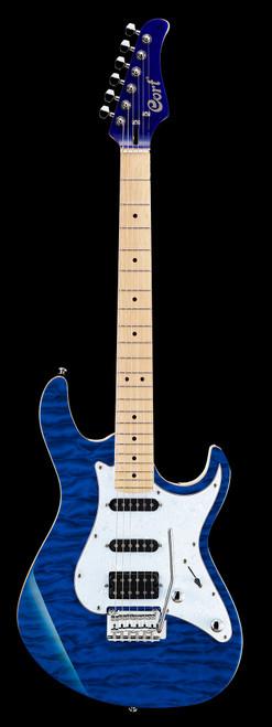 Cort G250DX Electric Guitar Transparent Blue