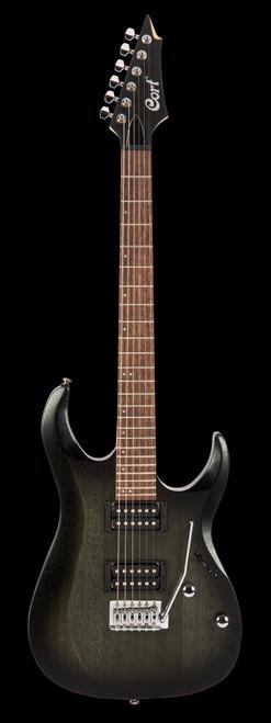 Cort X100 Electric Guitar Open Pore Black Burst