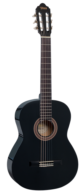 Valencia 100 Series Classical Acoustic Guitar 4/4 Full Size Black