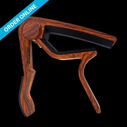 Wingo Trigger Capo JX-09 Acoustic Curved Wooden Finish
