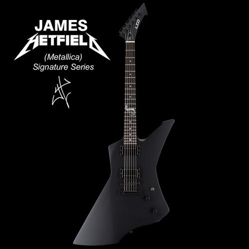 LTD Snakebyte James Hetfield (Metallica) Signature Series Electric Guitar Black Satin