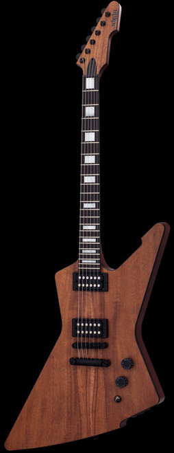 Schecter E-1 Koa Electric Guitar Natural Satin