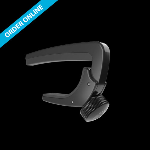 D'Addario NS LITE Capo Adjustable Tension Acoustic Curved Black