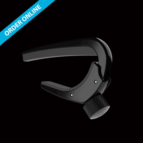 D'Addario NS PRO Capo Adjustable Tension Acoustic Curved Black