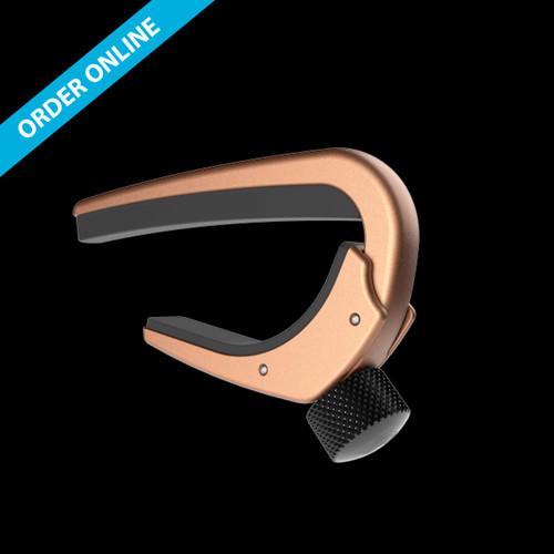 D'Addario NS PRO Capo Adjustable Tension Acoustic Curved Metallic Bronze