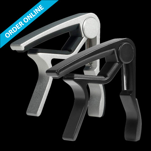 Wingo Trigger Capo JX-09 Acoustic Curved Black and Silver 2-Pack