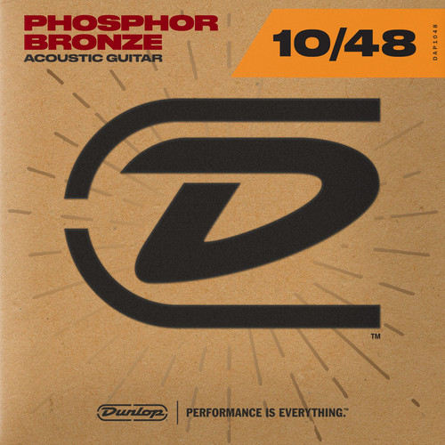 Dunlop Phosphor Bronze Acoustic Guitar 10/48 Light Gauge Strings