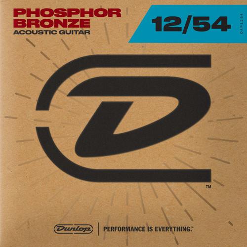 Dunlop Phosphor Bronze Acoustic Guitar 12/54 Light Gauge  Strings