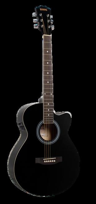 Redding Grand Concert Steel String Electric/Acoustic Guitar Black Gloss