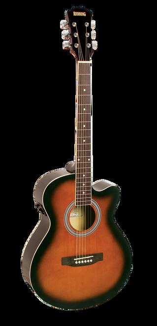 Redding Grand Concert Steel String Electric/Acoustic Guitar Tobacco Sunburst Gloss