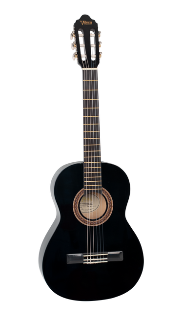 Valencia 100 Series Classical Acoustic Guitar 3/4 Size Black
