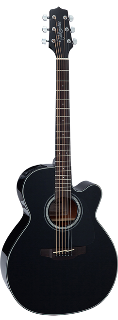 Takamine GN30CE-BLK Solid Spruce NEX Electric/Acoustic Guitar Gloss Black