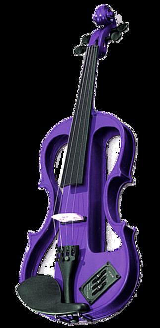 Carlo Giordano EV202 Series 4/4 Full Size Size Electric Violin Purple