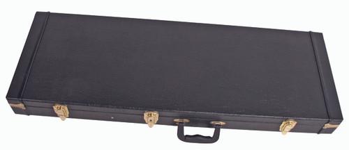 V-CASE  Rectangular Plywood Guitar Case for Strat/Tele - Black Vinyl