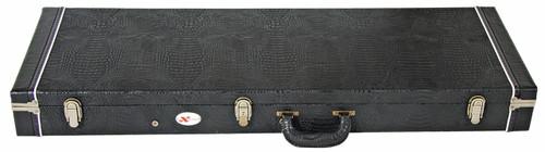 EXTREME  Rectangular Plywood Guitar Case for Strat/Tele - Black Croc Vinyl
