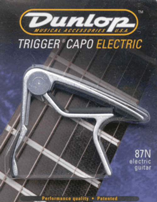 Jim Dunlop Trigger Clamp Style Electric Guitar Capo - Nickel