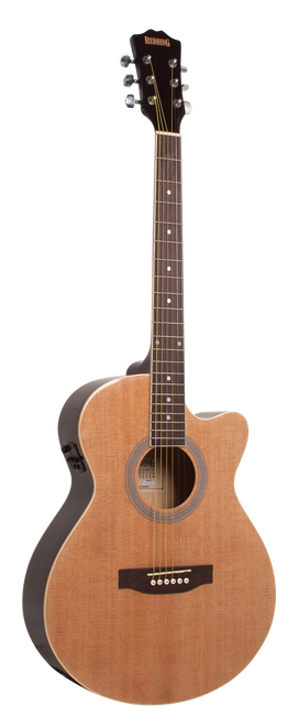 Redding Grand Concert Steel String Electric/Acoustic Guitar Natural Gloss
