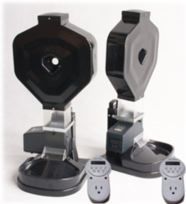 Double CSF-3XL cat feeder combo with two weekly digital timers