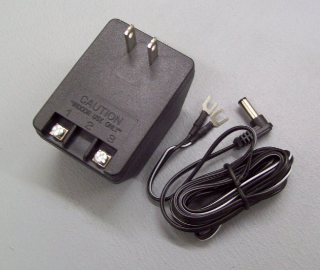 Indoor type koi pond feeder power supply with terminal screws and detachable cord