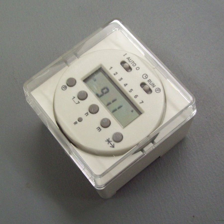 12VDC programmable timer with indoor type housing