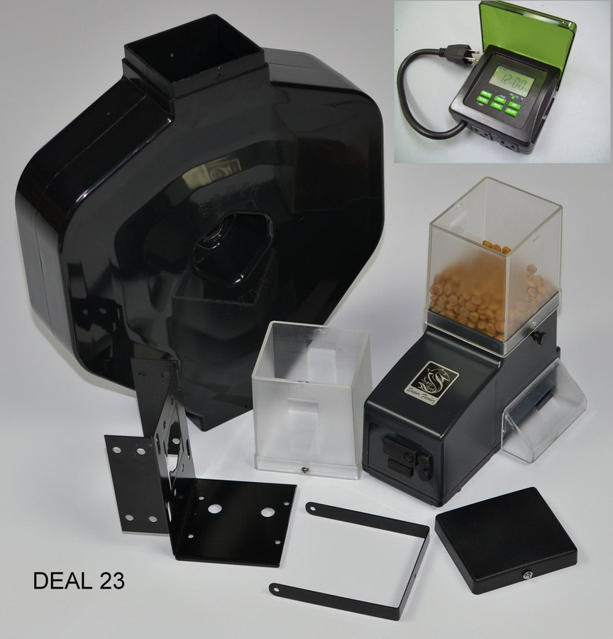 Outdoor csf-3xl feeder package with digital timer
