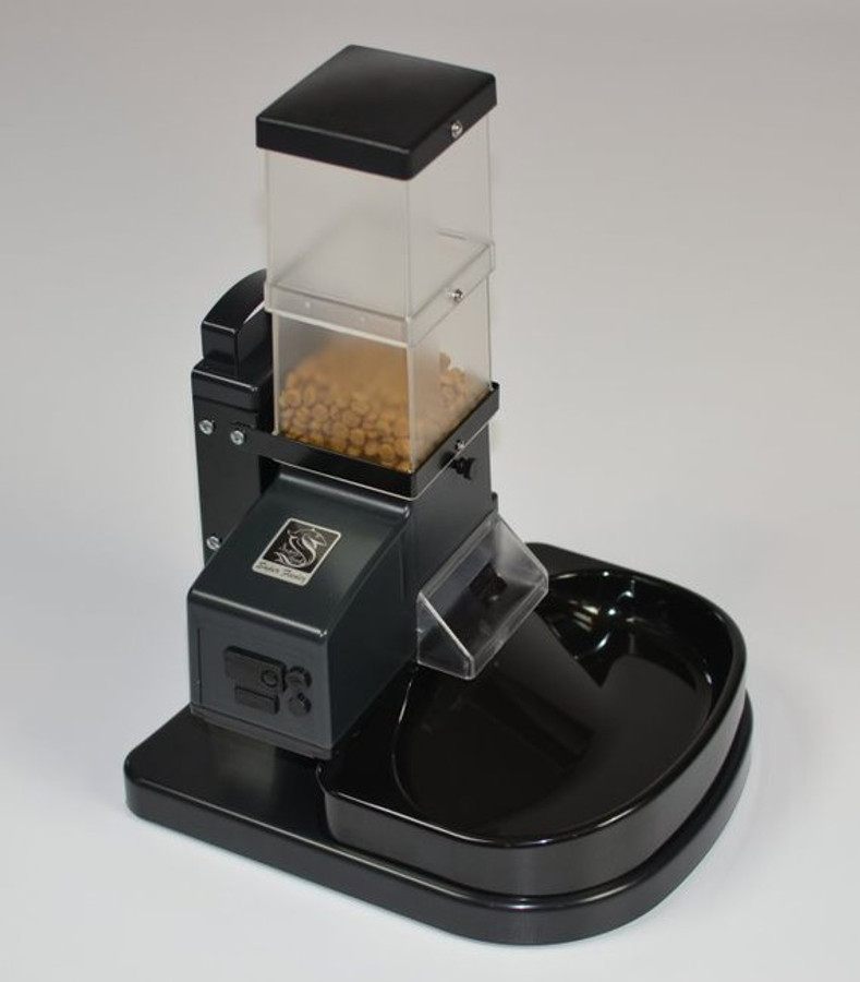 CSF-3 cat Super Feeder with stand/bowl only (no external timer), and all mounting hardware