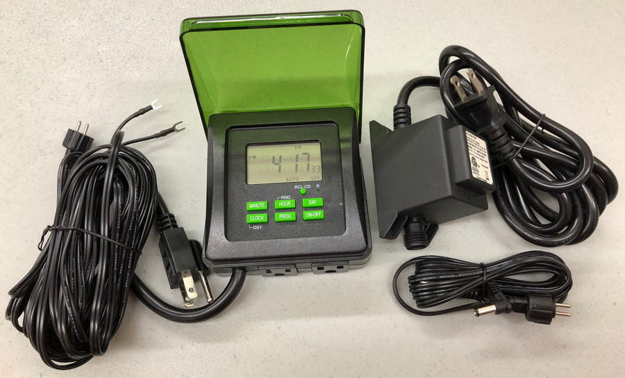 Outdoor power pack, digital timer, wires
