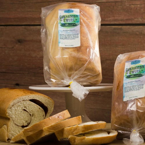 This bread is a family favorite!  Sweetened with honey, like our other yeast breads, cinnamon swirl bread is delicious toasted with butter.