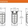 LED Vapor Proof 11 watt Jelly Jar, Ceiling Mount