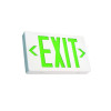 Green Lettering White Housing LED Exit Sign with Battery Back-Up