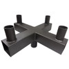 90° Quad Square Vertical Tenon for 4 fixtures