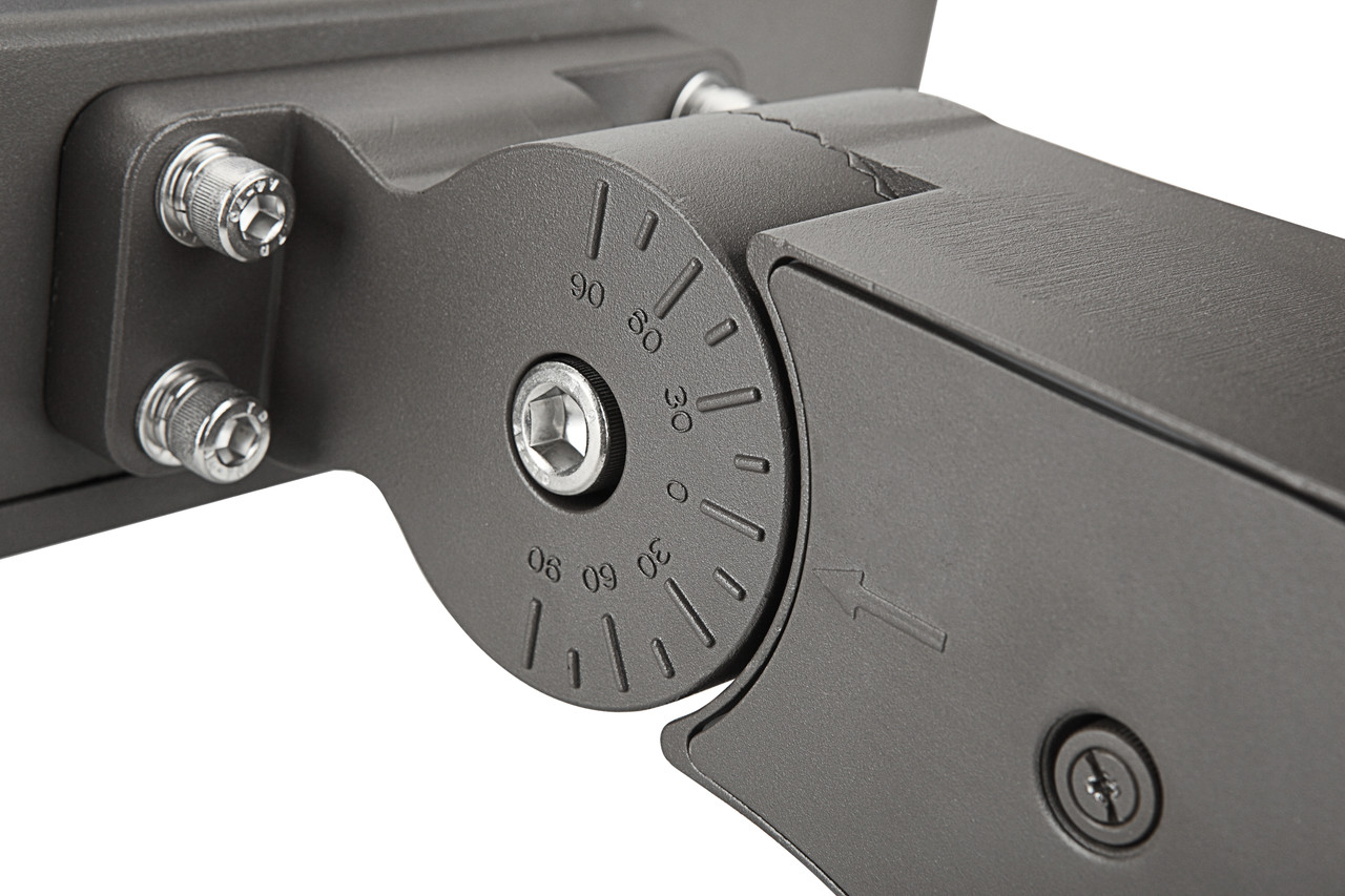 LED Shoe Box, 200 watt, 26000 lumen, 100-277 volt, 5000 Kelvin, UL and DLC Listed, Dimmable
