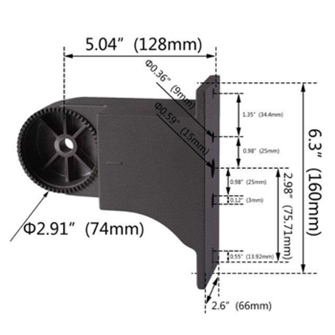 Adjustable Arm Mount- round or square dimensions