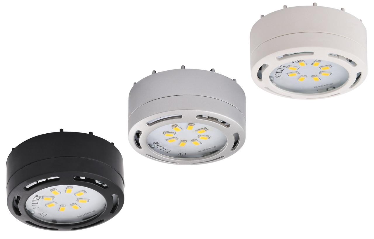 3 - LED Puck Light 12 Watt, 825 lumens , 3000 kelvin