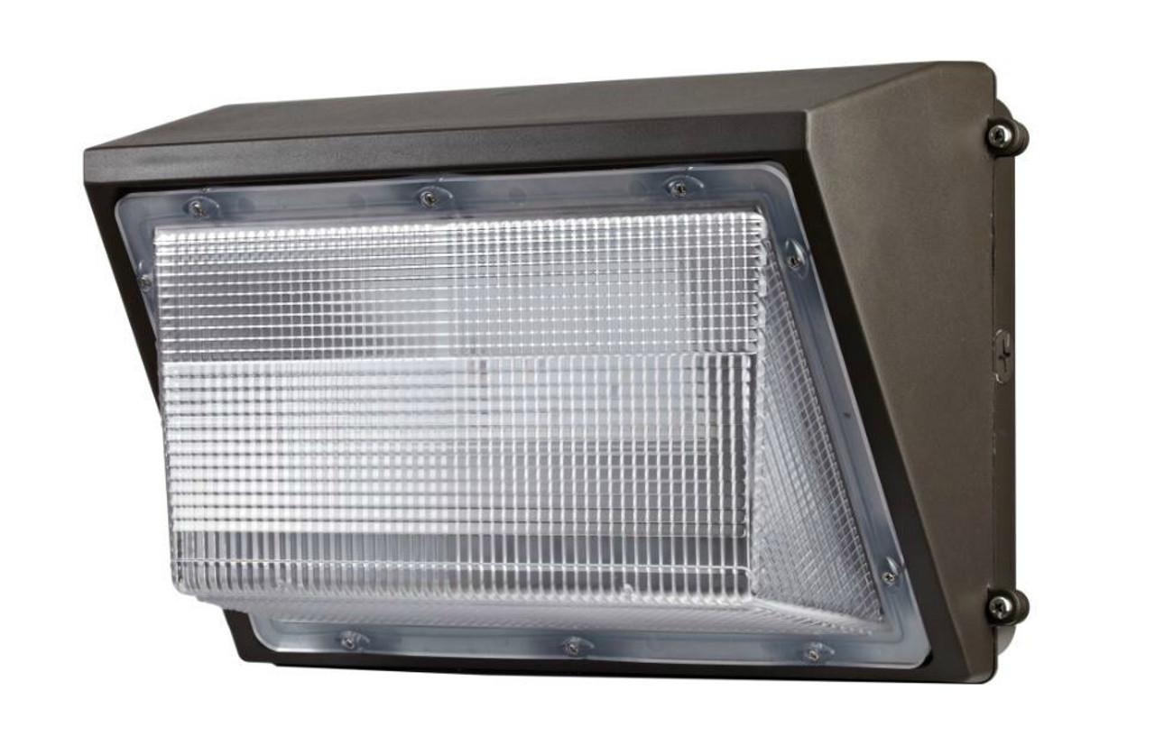 LED Wall Pack 70 Watt, 8120 lumen with glass lens, 5000 Kelvin, 100-277 volt UL DLC Listed